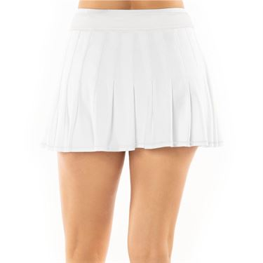 Lucky in Love Core Long Retro Pleated Skirt - White
