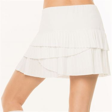 Lucky in Love BMS Hi Pleat Scallop Skirt - White