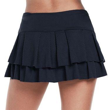 Lucky in Love Wavy Pleat Tier Skirt Womens Midnight CB425 401