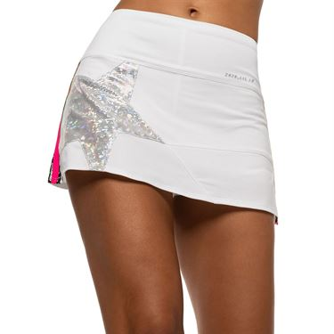 Lucky in Love 10th Anniversary Long Shining Star Skirt Womens White CB468 C73120