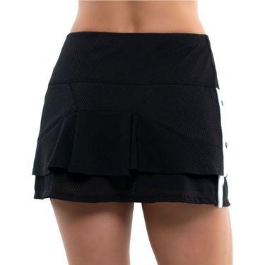 Lucky in Love City Graffiti Long Snap To It Skirt Womens Black/White CB483 121