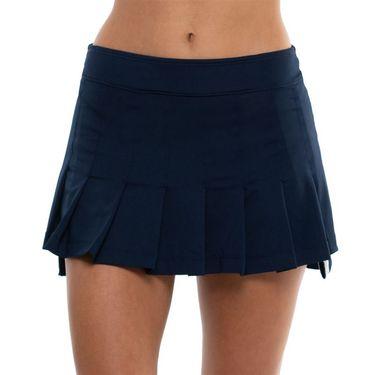 Lucky in Love Techno Tropic Hi/Lo Pleated Skirt Womens Midnight CB486 401