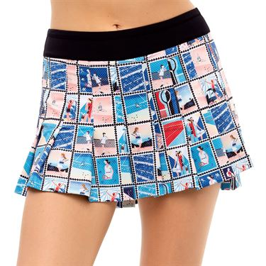 Lucky in Love Post A Plaid Poster Girl Pleated Skirt Womens Turquoise CB486 G58409