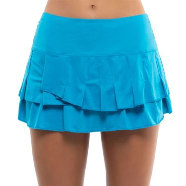 Lucky in Love Square Are You Stitch Down Tier Skirt Womens Turquoise CB493 409