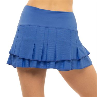 Lucky in Love Count Me In Stitch Down Tier Skirt Womens Blue Marine CB493 430