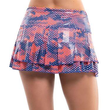 Lucky in Love Kinetic Energy Reflex Tier Skirt Womens Orange Glow CB493 E47810
