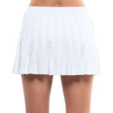 Lucky in Love Kinetic Energy Long Techno Pleated Skirt Womens White CB498 120