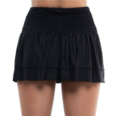 Lucky in Love Square Are You Long Grid Smock Skirt Womens Black CB500 E16001