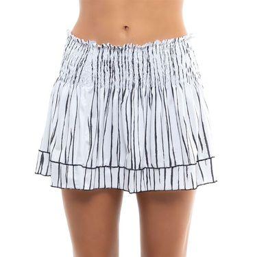 Lucky in Love Going Wild Long Zebra Smock Skirt Womens White CB500 E41110