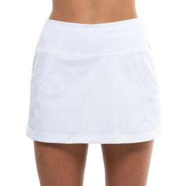 Lucky in Love Techno Tropic Long Baller Skirt Womens White CB505 110