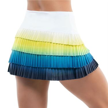 Lucky in Love Sea Breeze Ombre Pleated LUV Novelty Skirt Womens Breeze CB510 E63422