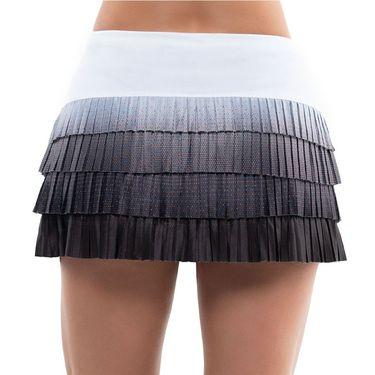 Lucky in Love Nightfall Ombre Pleated LUV Novelty Skirt Womens Black/White CB510 E64001