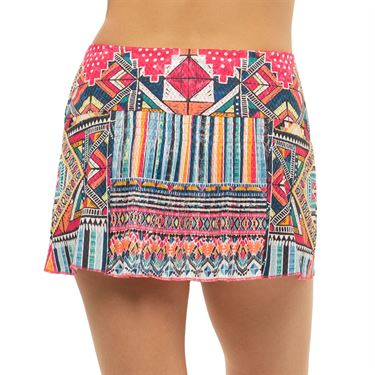 Lucky in Love Pretty In Ink Around The Block Skirt Womens Shocking Pink CB514 G44645
