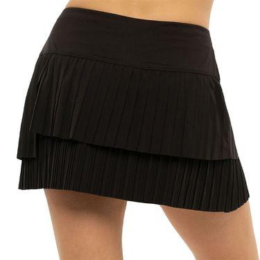 Lucky in Love Novelty Long Free Spirit Pleated Skirt Womens Black CB515 001