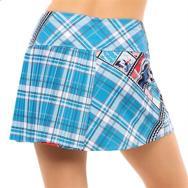 Lucky in Love Post A Plaid Post It Skirt Womens Turquoise CB529 G60409