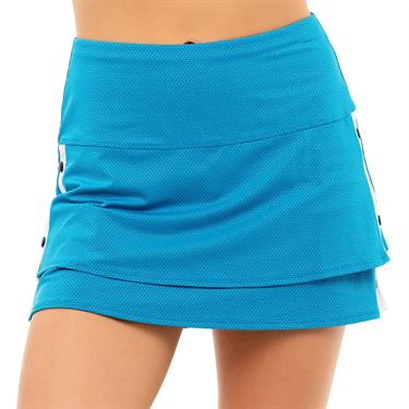 Lucky in Love Post A Plaid Snap To It Skirt Womens Turquoise CB530 409