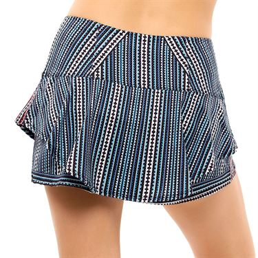 Lucky in Love Post A Plaid Stamp It Skirt Womens Black CB537 G61001