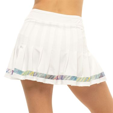 Lucky in Love Count Me In Long Sheer Can Pleated Skirt Womens White CB538 G73110