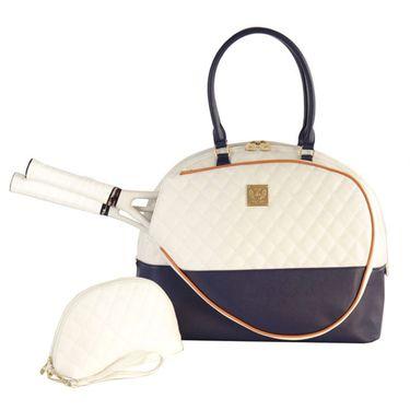 Court Couture Saint Tropez Tennis Bag - White/Navy