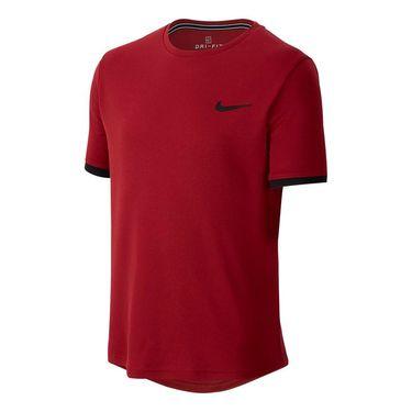 Nike Boys Court Dry Crew - Team Crimson/Black