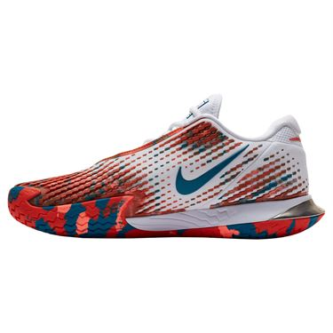 Nike Court Air Zoom Vapor Cage 4 Mens Tennis Shoe White/Team Orange/Green Abyss CD0424 106