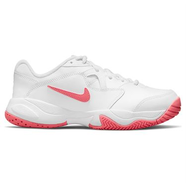 Nike Court Junior Lite 2 Tennis Shoe White/Pink Salt CD0440 166