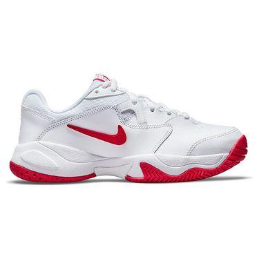 Nike Court Junior Lite 2 Tennis Shoe White/University Red CD0440 177