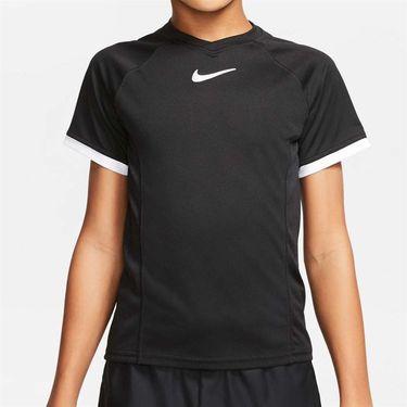 Nike Boys Court Dri Fit Crew Shirt Black CD6131 010