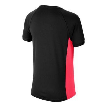 Nike Boys Court Dri Fit Crew Shirt Black/Laser Crimson CD6131 011
