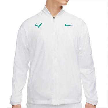 Nike Rafa Full Zip Jacket Mens White/Lucid Green CI9135 100
