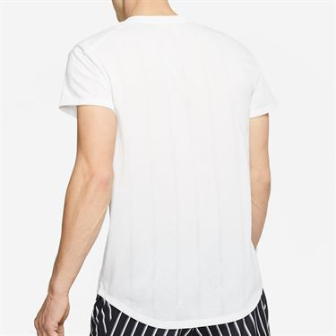 Nike Court Challenger Crew Shirt Mens White/Black CI9146 100