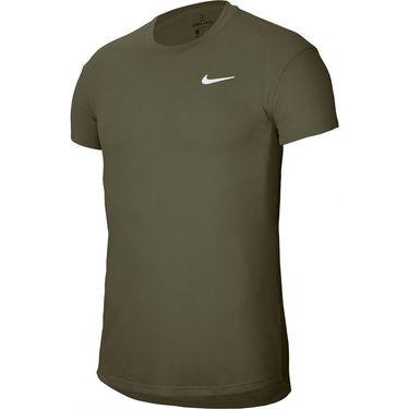 Nike Court Challenger Crew Shirt Mens Medium Olive/White CI9146 222
