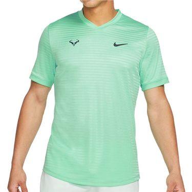 Nike Court Rafa Challenger SS Crew - Green Glow/Thunder Blue