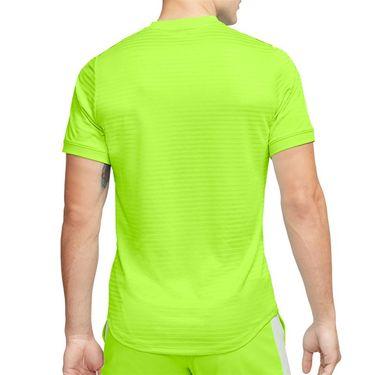 Nike Rafa Challenger Crew Shirt Mens Volt/Black CI9148 702