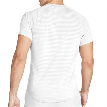 Nike Court Aero React Rafa Slam Crew Shirt Mens White/Lucid Green CI9152 100