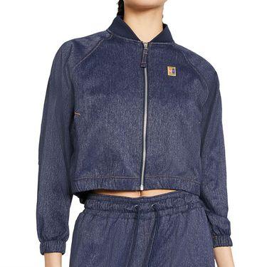 Nike Court Full Zip Jacket Womens Obsidian/Silver/Wheat CI9310 451