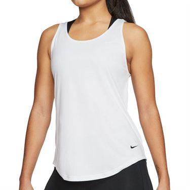 Nike Dri Fit Victory Tank Womens White/Black CJ2363 100