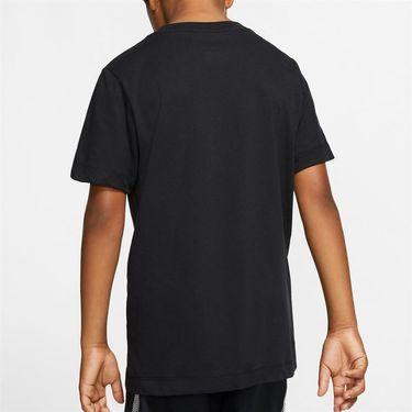 Nike Boys Court Short Sleeve Graphic Tee - Black/Volt