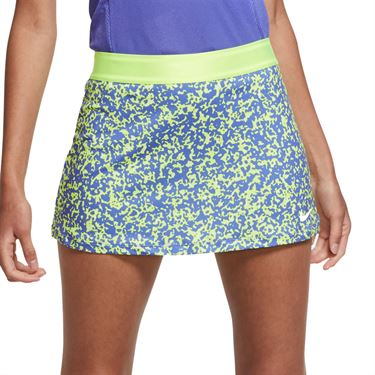 Nike Court Dri Fit Skirt Womens Volt/White CK8216 702