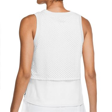 Nike Court Dri Fit Tank Womens White/Black CK8290 011