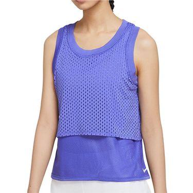 Nike Court Dri Fit Tank Womens Rush Violet/White CK8290 554