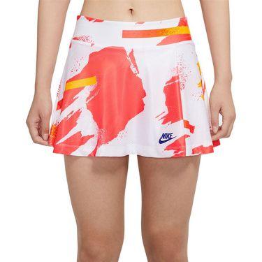 Nike Court Slam Skirt Womens White/Solar Red/Citrus CK8422 101