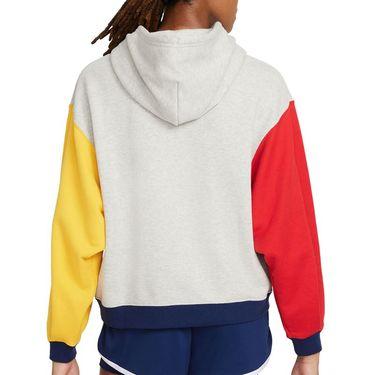 Nike Court Heritage Hoodie Womens Grey Heather CK8447 050