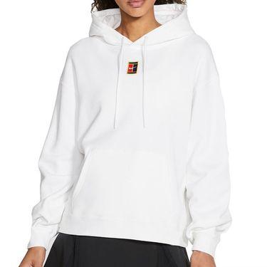 Nike Court Heritage Hoodie Womens White/Black CK8447 100