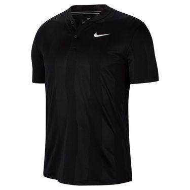 Nike Court Dry Polo Blade Print - Black/White