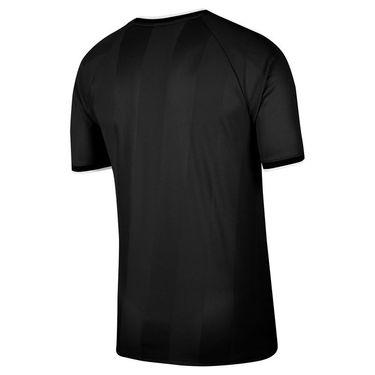 Nike Court Breathe Slam Crew Shirt Mens Black/White CK9799 010