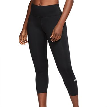 Nike Epic Lux Crop Legging Womens Black/Reflective Silver CN8043 010