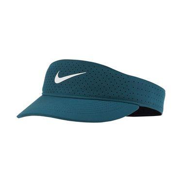 Nike Court Womens Advantage Visor - Teal Green/White