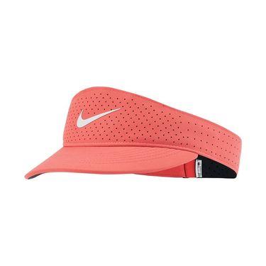Nike Court Womens Advantage Visor - Magic Ember/White