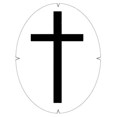 Tourna Cross Stencil